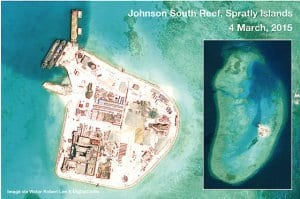 Image of Chinese fortification on Spratly islands