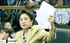 "They did it before: Ombudsman Morales on May 14, 2012, at the Senate impeachment court waving AMLC ""documents."" It was a huge hoax, as Morales added transactions over nine years, not balances."