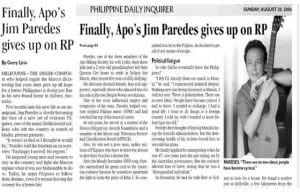 The PDI article Paredes forgot about