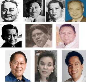 Do you still remember them? VP-race losers. Clockwise from left, Rodriguez, Briones, Yulo, Laurel, Osmena, Roxas, Jr, Fernan, Angara, Legarda, and Roxas II.