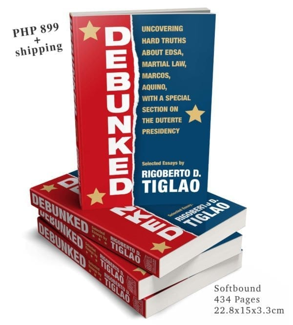 Debunked Book of Rigoberto Tiglao
